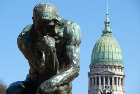 Private tour guide buenos aires view of the thinker