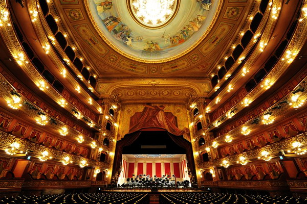 Private tour guide in Buenos Aires Teatro Colon Opera House view from the seats