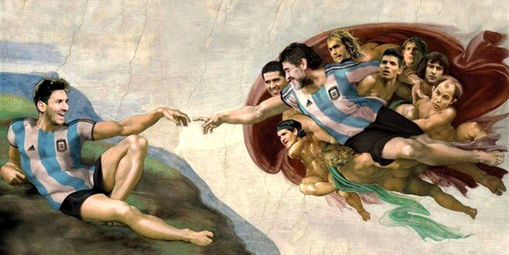 Private tour guide Buenos Aires soccer version of Sistine chapel with Maradona and Messi